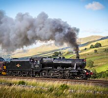 The Waverley Black 5 Thunders up Ais Gill by Jan Fialkowski