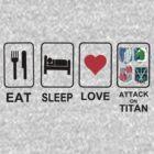 eat sleep love attack on titan by diannasdesign