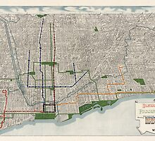 Antique Map of Chicago, Illinois from 1908 by bluemonocle