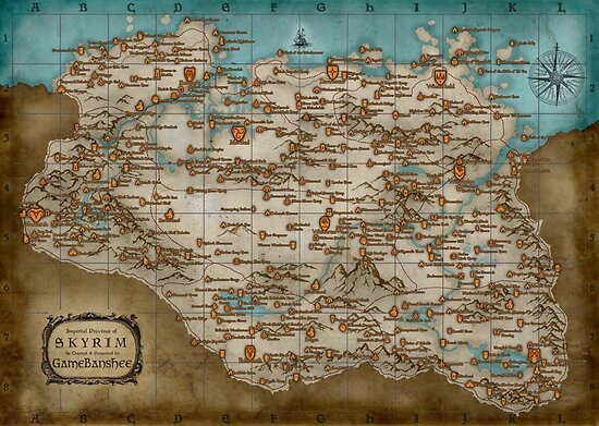 The Elder Scrolls V: Skyrim - Complete Map by FanmadeStore