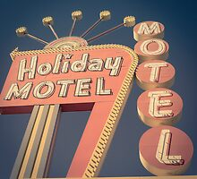 Vintage Motel Sign Square by Edward Fielding