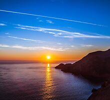 Sunset From the Golden Gate Bridge by incolorcreative