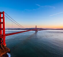 The Golden Gate at Golden Hour by incolorcreative
