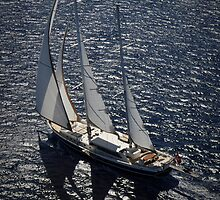 aerial photograph of sailboat by laikaincosmos