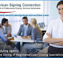 Certified Loan Signing Agent-www.americansigningconnection.com by americansigning