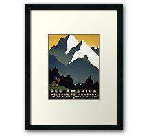 See America, Montana Framed Print
