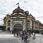 Abstract Flinders Street Station by JohnKarmouche