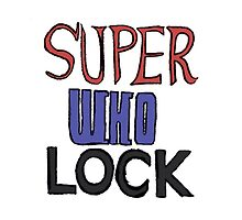 Superwholock Title Phone Case by infinite-tardis
