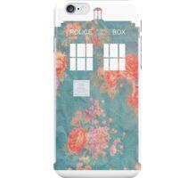 Floral TARDIS iPhone Case/Skin