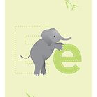 E is for Elephant (Lowercase) by Haley Luden