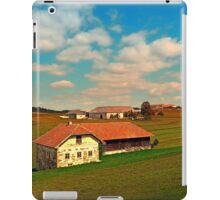 Countryside life with blue cloudy sky | landscape photography iPad Case/Skin