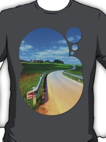 Country road into amazing panorama | landscape photography T-Shirt