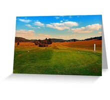 Summer season at the golf club   landscape photography Greeting Card