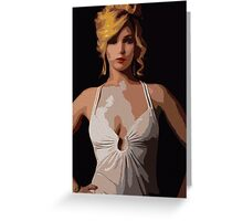 American Hustle Jennifer Lawrence Print Greeting Card