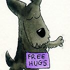 Archy The Scottie Dog 'Free Hugs' by archyscottie