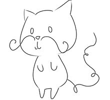 Mustache Kitty by chubbychan