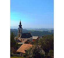 Village church, skyline and panorama | landscape photography Photographic Print