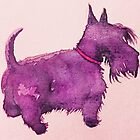 Scottie watercolour (purple) by BonniePortraits