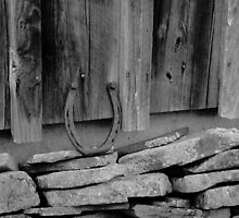 Horseshoe on a Rock Wall by Carl H. Heckman