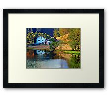 A summer evening along the river II | waterscape photography Framed Print