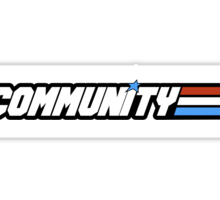 Community G.I Joe Sticker