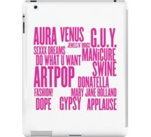 ARTPOP (White) iPad Case/Skin