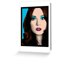 Amy Pond Pop Art (Doctor Who) Greeting Card