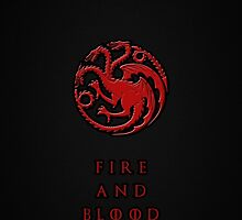 Game of thrones - Cover house Targaryen by MarcoMellark