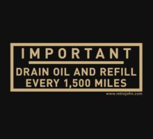 Minimum Oil Level by retrojohn