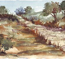 The road to a friend's farm 2 by Maree  Clarkson