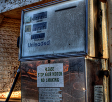 Abandoned Gas Pump  Sticker