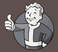 Vault Boy! (Black and White) by Nick Halls