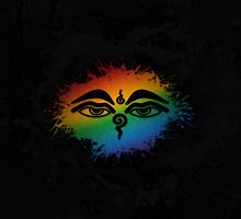 LGBT Buddhist The Eyes of the Buddha  by LiveLoudGraphic