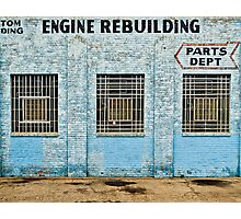 Engine Rebuilding Building Photographic Print