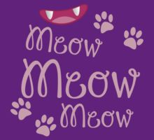 Meow Meow Meow cute kitty cat with kitty nose by jazzydevil