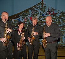 Biggin Hill Concert Band saxophones by Keith Larby
