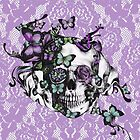 Candy coated, purple lace skull by KristyPatterson