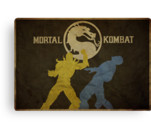 Mortal Kombat Poster Canvas Print