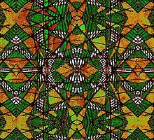 Geometric Glass Mosaic Pattern by DFLCreative