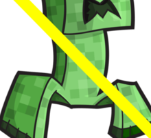 Creepers Are Banned: Creeper Shirt Sticker