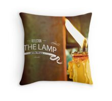 Reflection Is The Lamp Of The Heart  Throw Pillow