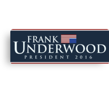 Frank Underwood Canvas Print