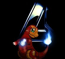 Iron Charmander iphone cover by M&J Fashion Graphic