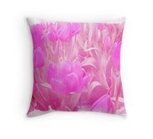 Hot Stuff - In Your Face PINK TULIPS Throw Pillow