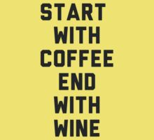 Start With Coffee by radquoteshirts