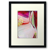 abstract pink and red Framed Print