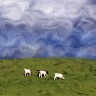 Pacific Cows by Wayne King