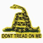 Don't Tread On Me Gadsden Flag American Flag  by 8675309