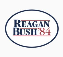 Reagan and Bush for 1984 presidential election by 8675309