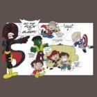 Chibi Avengers by keithcsmith